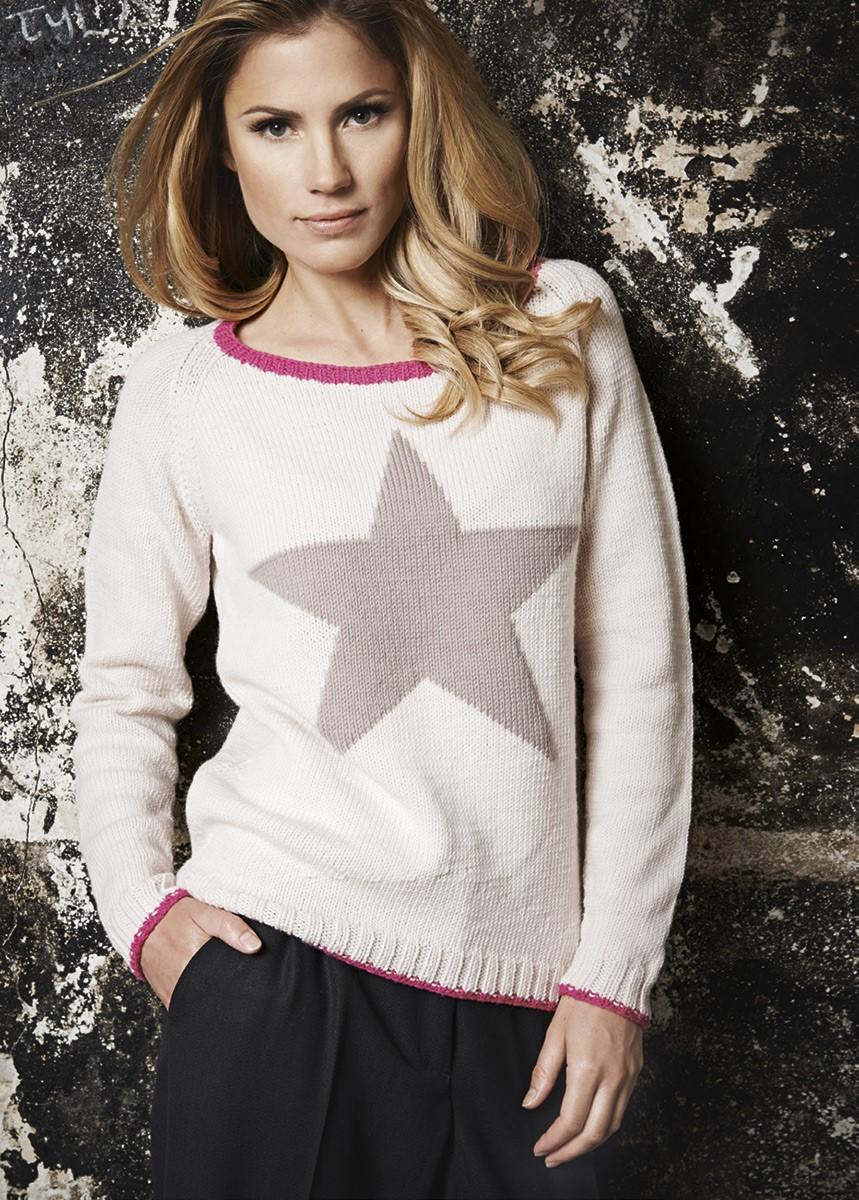 Lana Grossa Пуловер со звездой Cool Wool Big