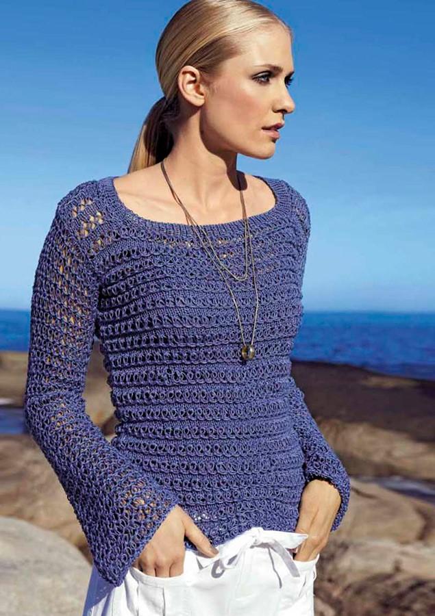 Lana Grossa Пуловер, выполненный узором-сеткой Classico