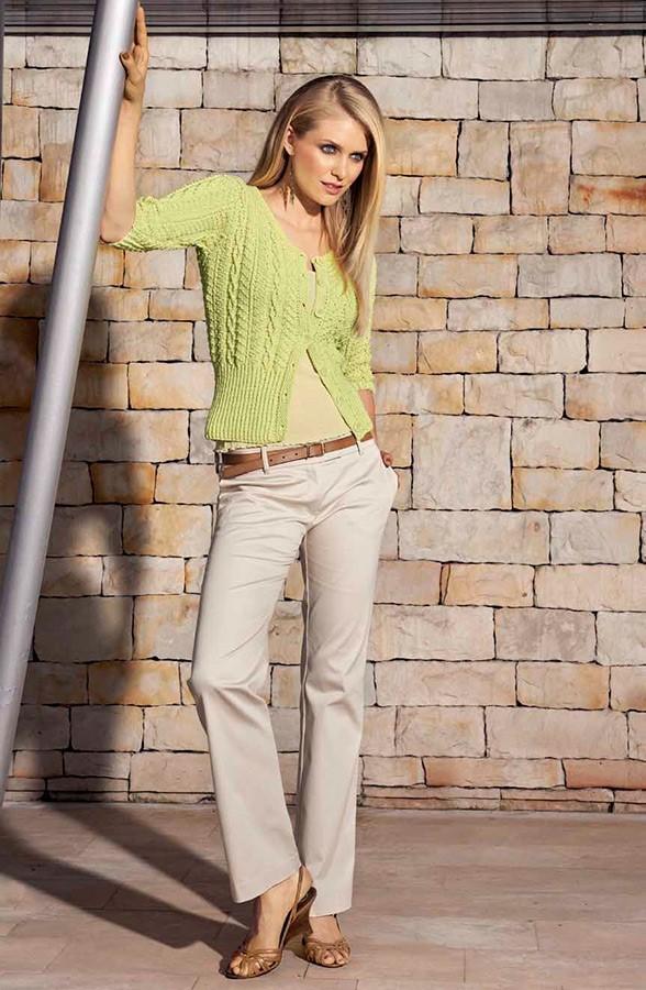 Lana Grossa Жакет, выполненный структур ным узором с косами Elastico Big