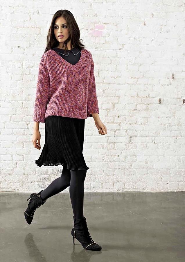 Lana Grossa Пу ловер с рукавом реглан, выполненный полупатентным узором Cool Wool Print