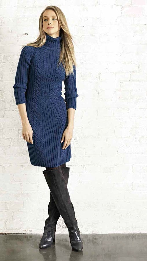 Lana Grossa Платье с рукавом реглан Cool Wool Big