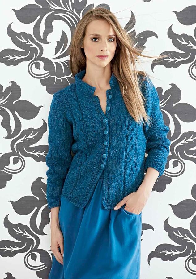 Lana Grossa Жакет с полосами-косами Royal Tweed