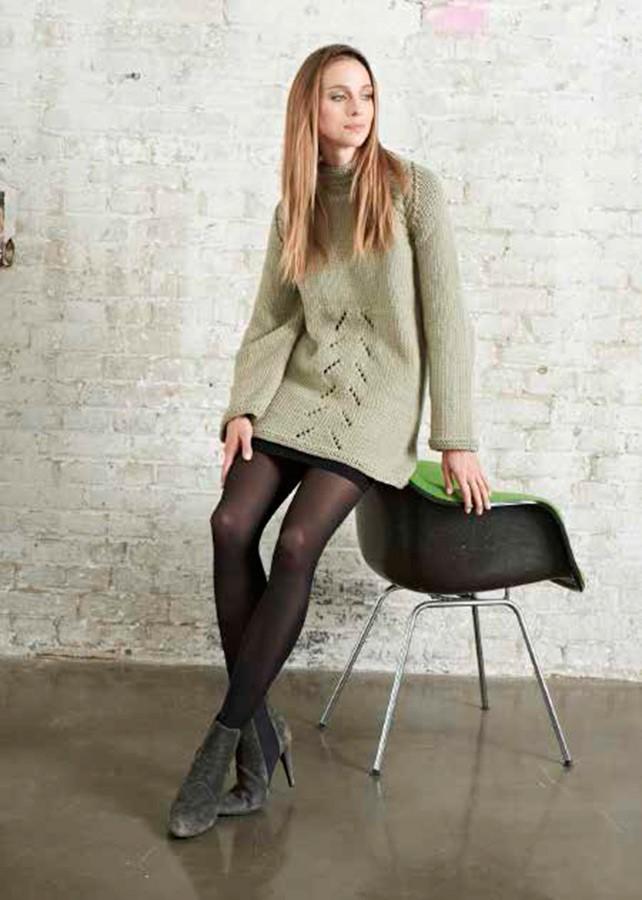Lana Grossa Длинный пуловер с рукавом реглан Superbingo