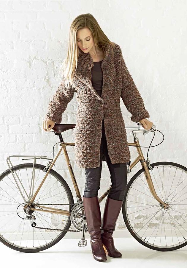 Lana Grossa Короткое пальто, выполненное структурной резинкой Royal Tweed