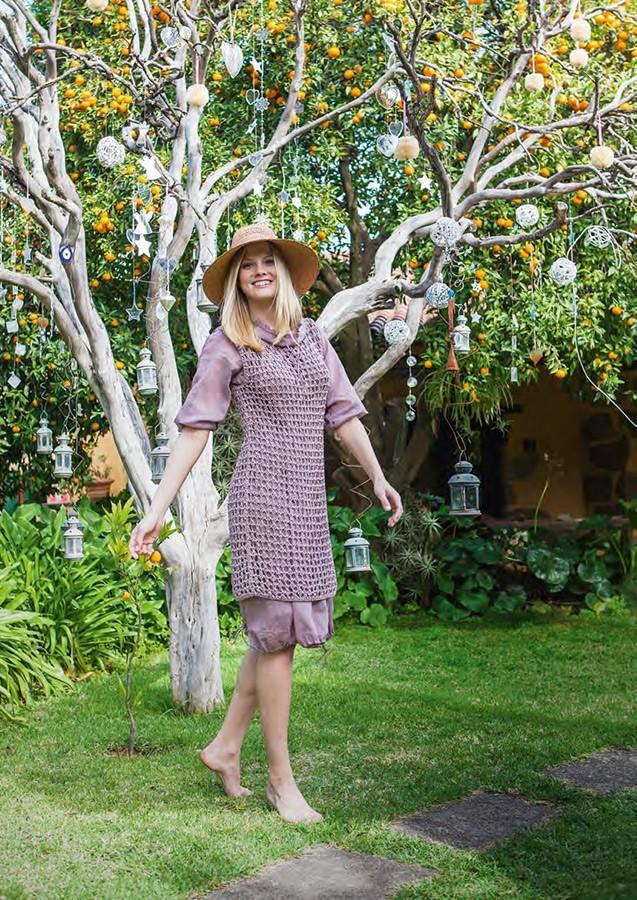 Lana Grossa Мини-платье с сетчатым узором Secondo