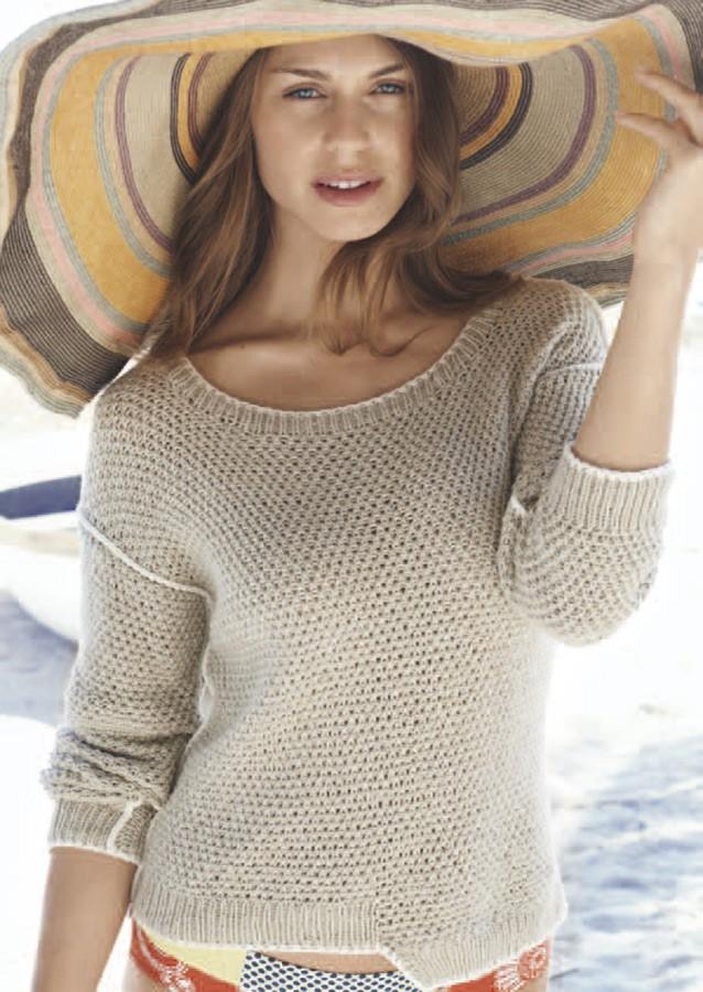 Lana Grossa Пуловер Linarte/Elastico