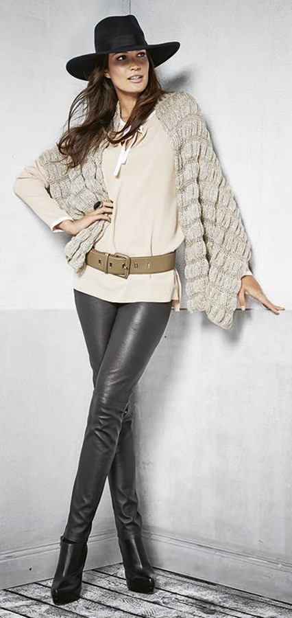 Lana Grossa Палантин в сборку Lace Lux