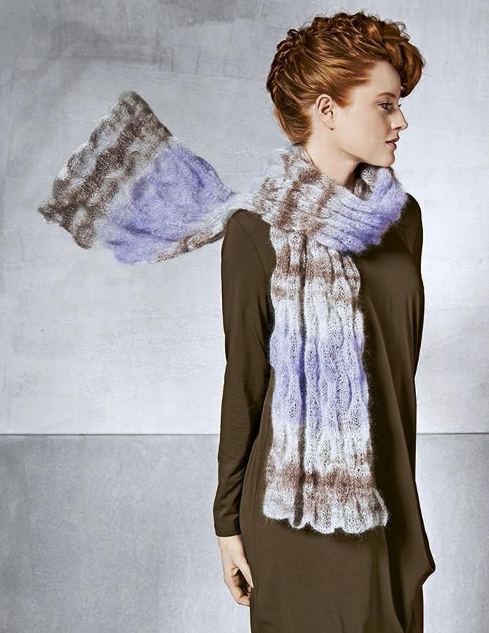 Lana Grossa Шарф, выполненный пластичным узором Silkhair Print