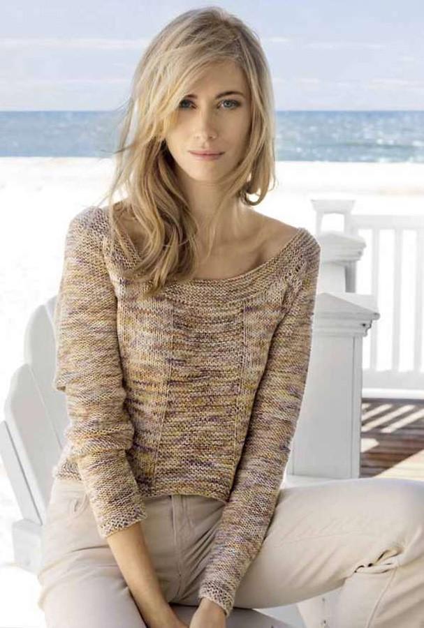 Lana Grossa Пуловер с рукавом реглан Organico Print