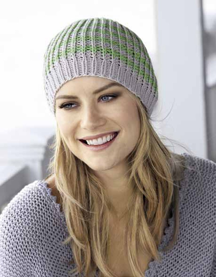Lana Grossa Полосатая шапка Organico
