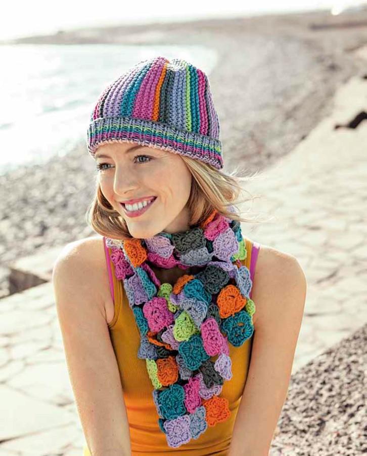 Lana Grossa Цветочный шарф Organico uni