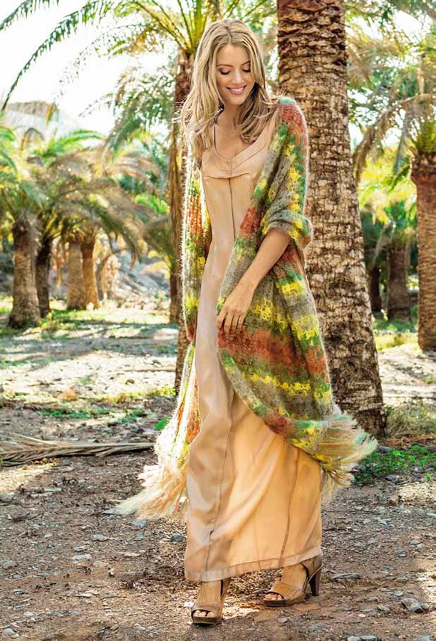 Lana Grossa Большой палантин Silkhair Print