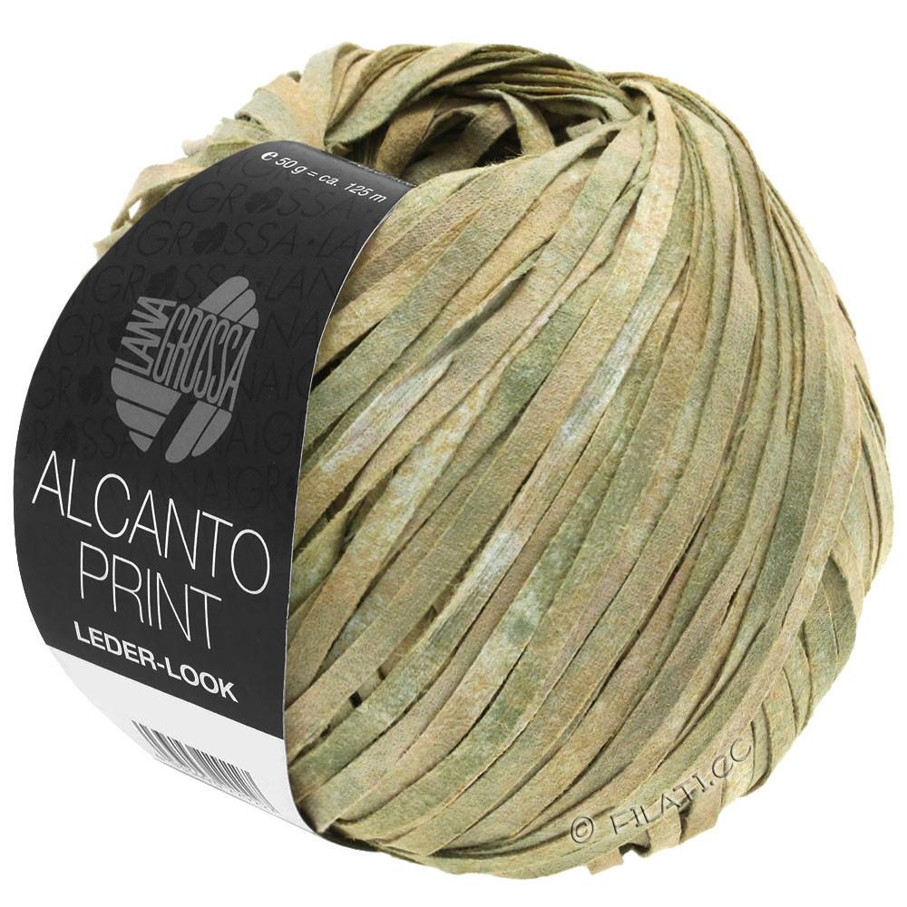 Lana Grossa ALCANTO Print | 101-натуральный/бежевый/серо-зеленый