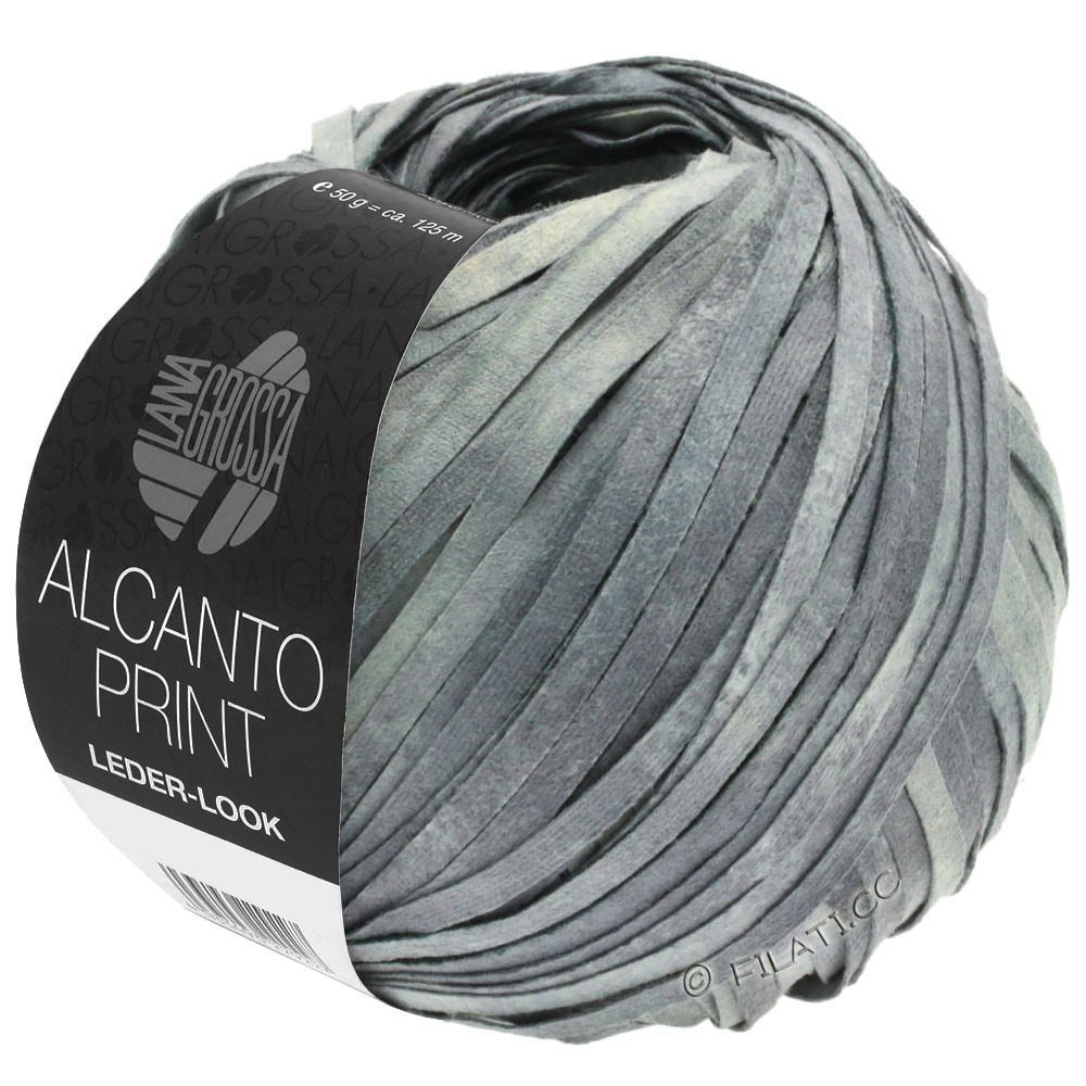 Lana Grossa ALCANTO Print | 103-средне-серый/светло-серый/натуральный