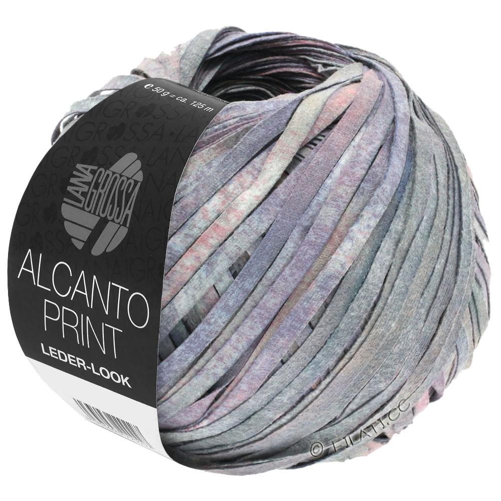 Lana Grossa ALCANTO Print | 104-серый/сирень/розовый