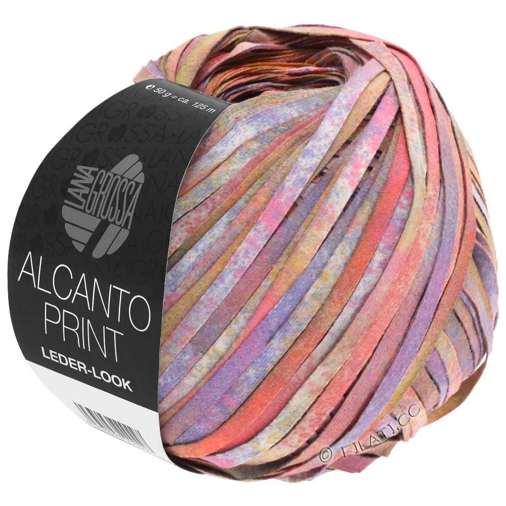 Lana Grossa ALCANTO Print | 106-розовый/пурпурный/коричневый
