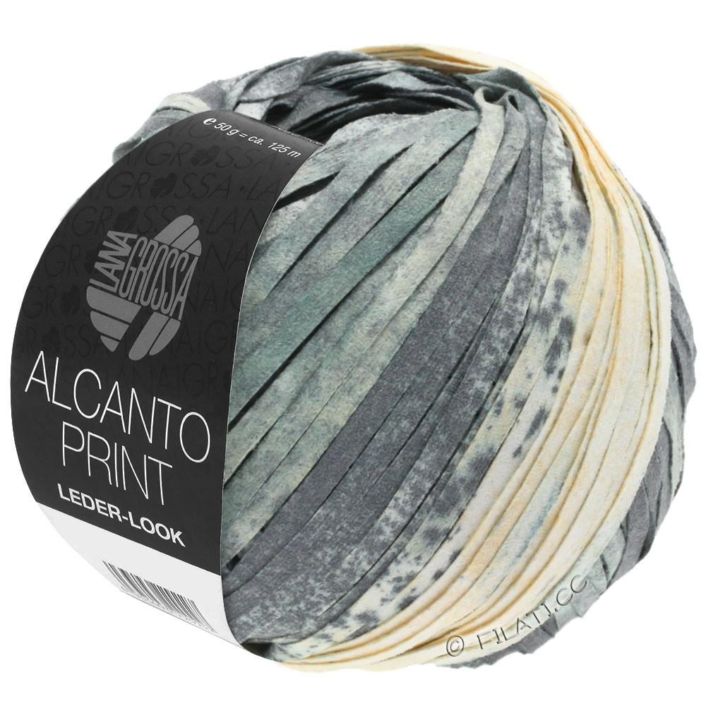 Lana Grossa ALCANTO Print | 203-серый/белый