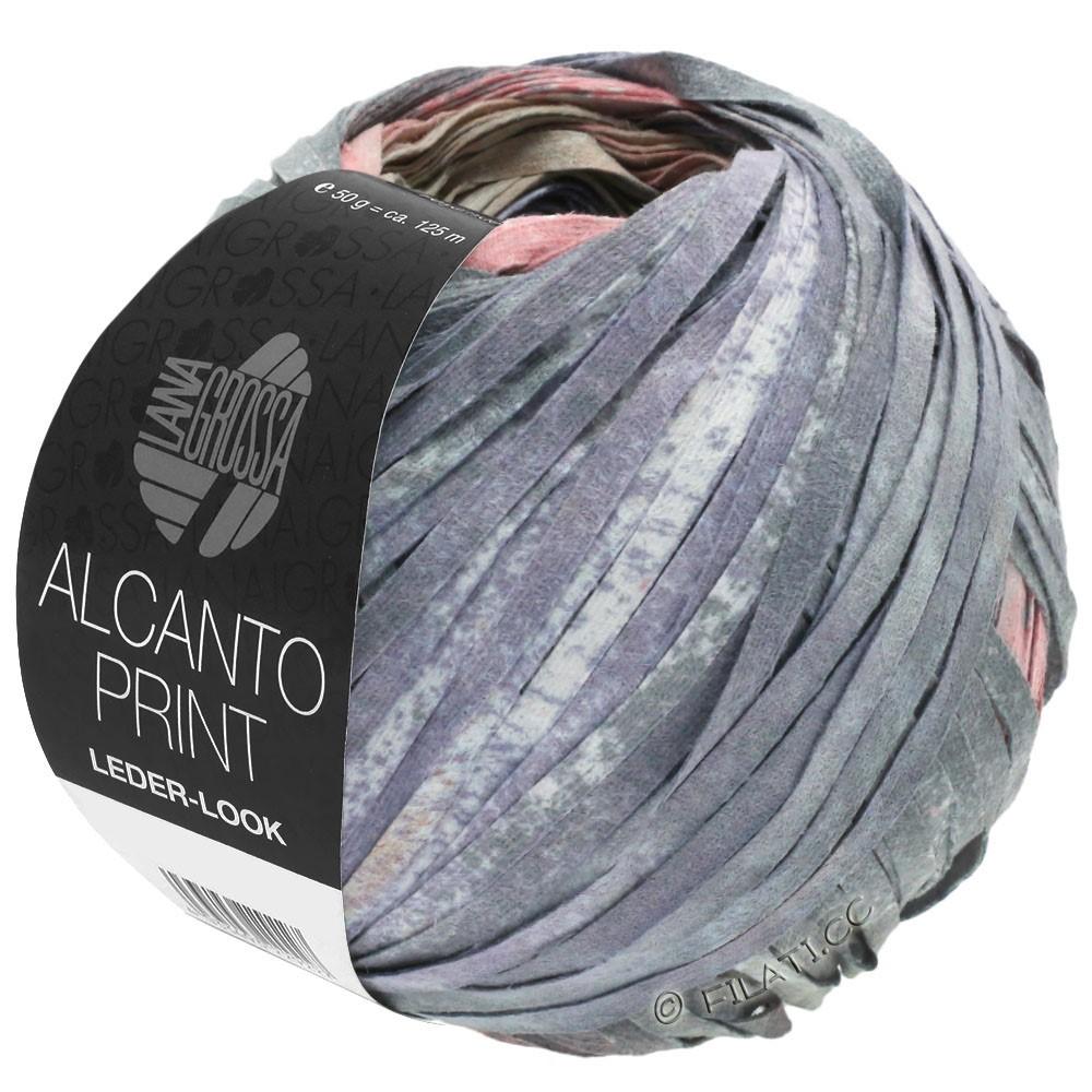 Lana Grossa ALCANTO Print | 205-натуральный/бежевый/серый/ветхо-розовый