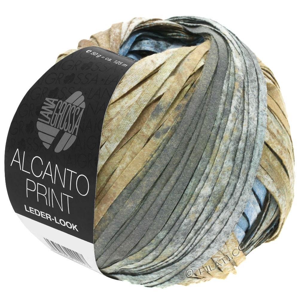 Lana Grossa ALCANTO Print | 206-натуральный/коричневый песок /серый