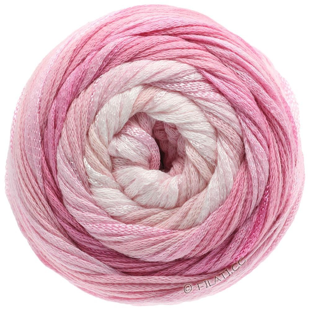 Lana Grossa ALLEGRO Degradé | 201-чисто-белый/мягко-розовый/розовый/гвоздика/пинк