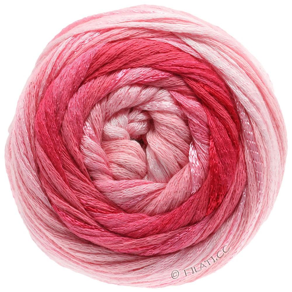 Lana Grossa ALLEGRO Degradé | 202-мягко-розовый/розовый/малиновый/тёмно-красный