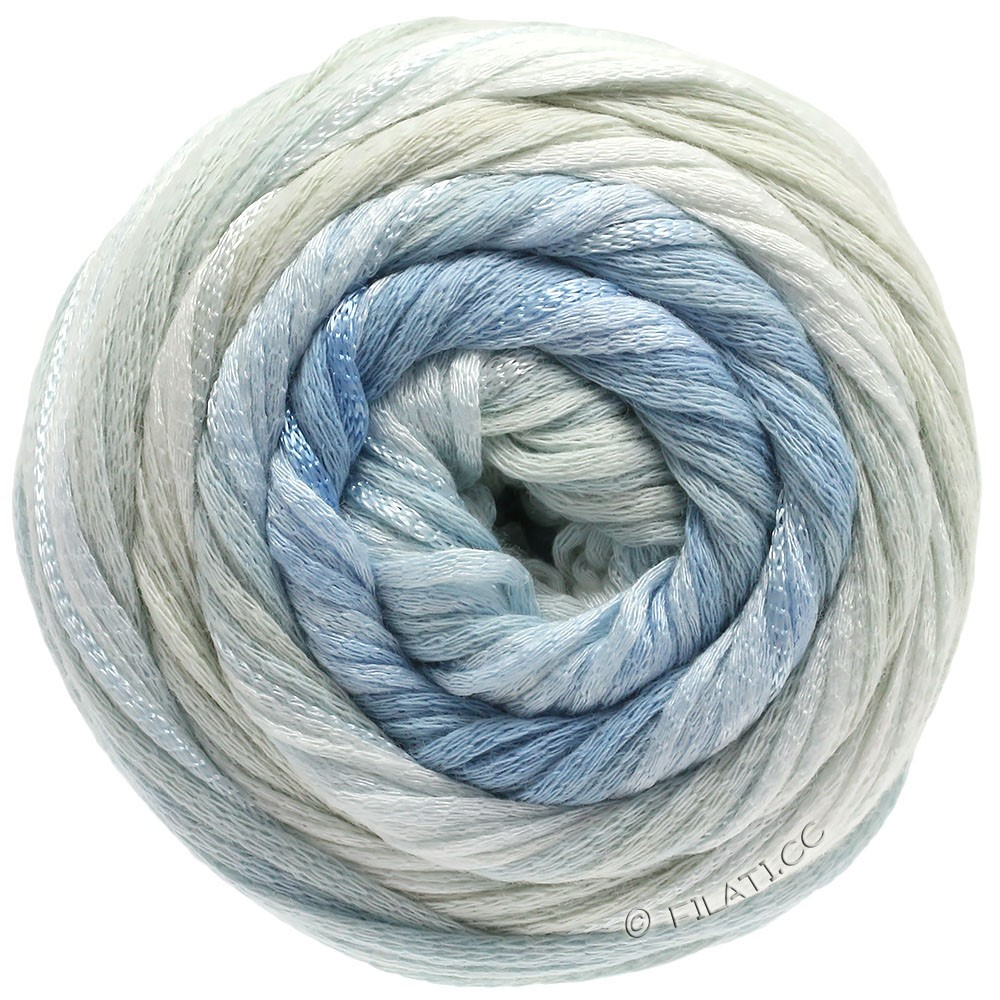 Lana Grossa ALLEGRO Degradé | 204-натуральный/бледно-зелёный/мягко-синий/серо-синий