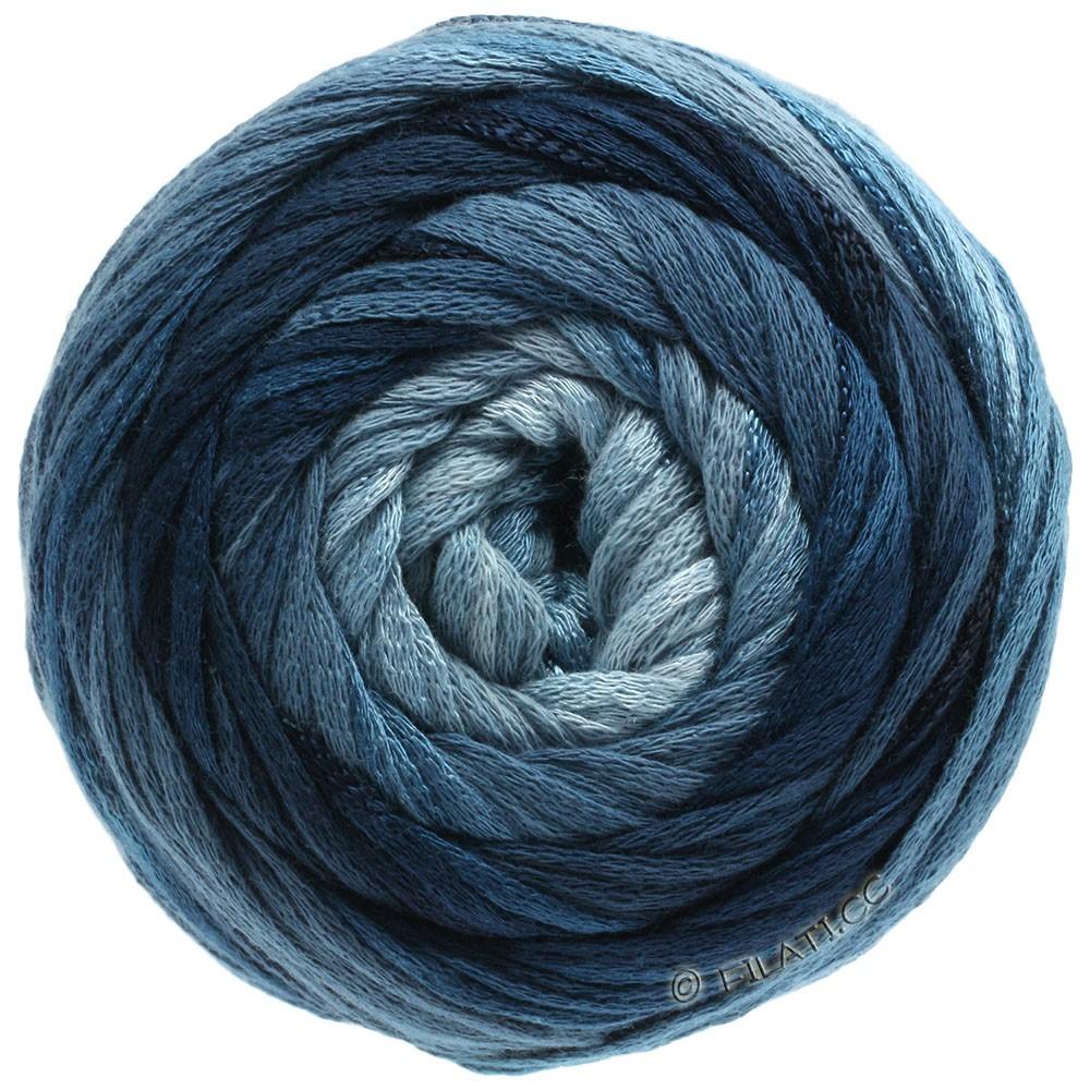 Lana Grossa ALLEGRO Degradé | 206-светло-голубой/серый/петроль зелёный/тёмно сине-зеленый