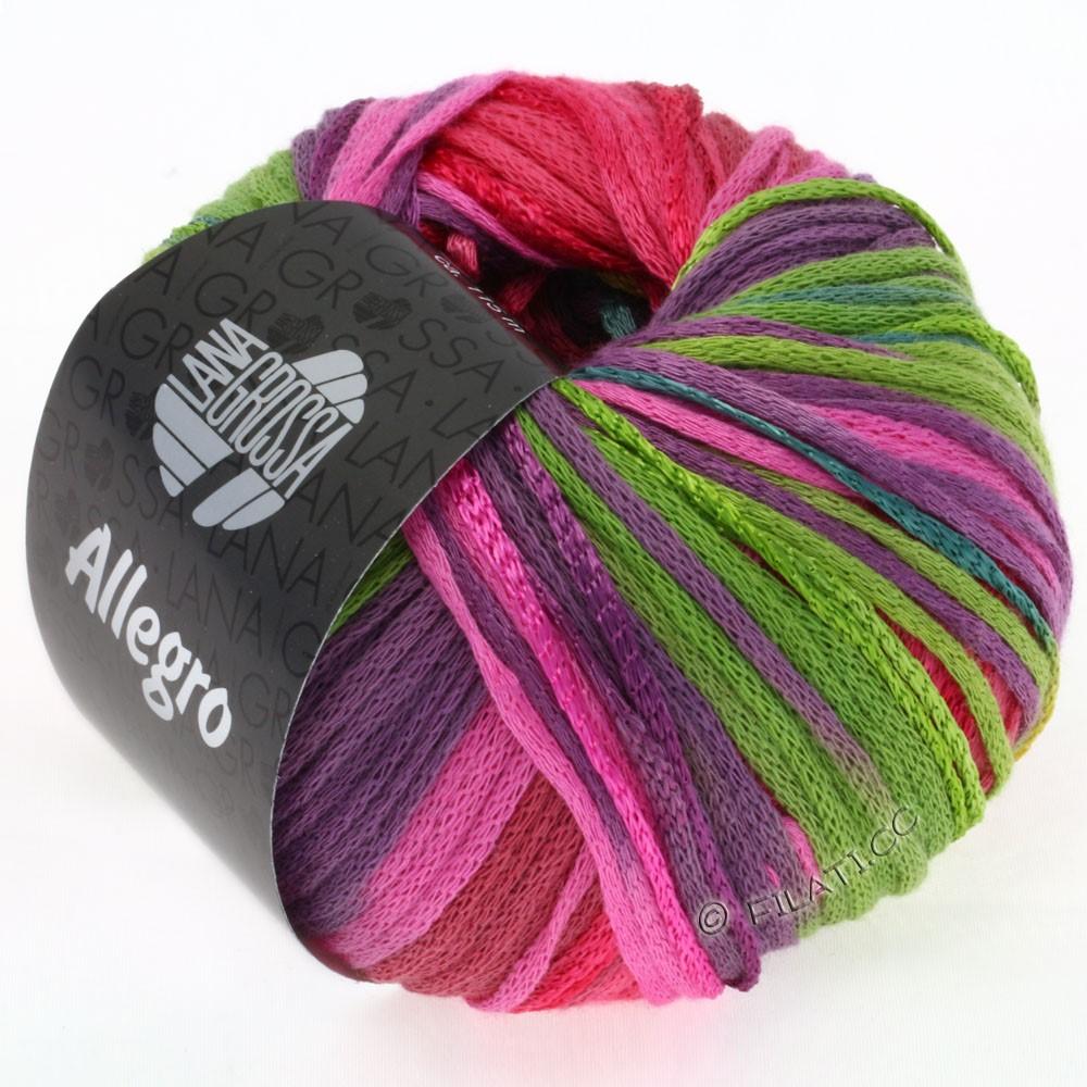 Lana Grossa ALLEGRO | 001-бирюзовый/горчично-желтый/пинк/светло-зелёный/фиолетовый