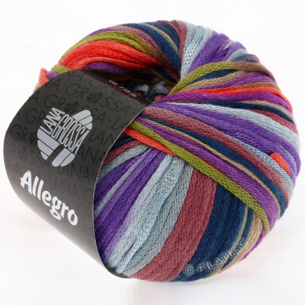 Lana Grossa ALLEGRO | 004-оливковый/ягодный/коралловый/фиолетовый/легко коричневый