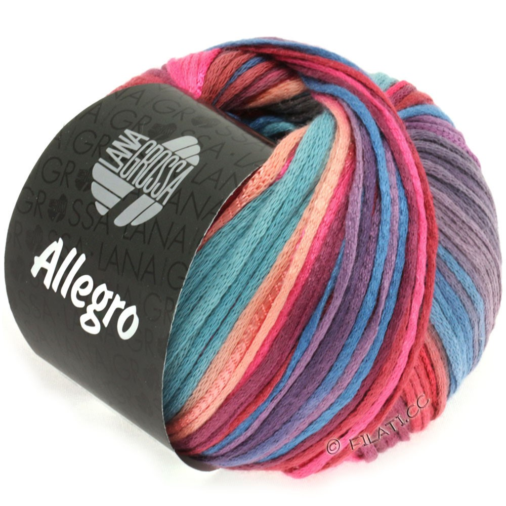 Lana Grossa ALLEGRO | 012-пинк/лососевый/пурпурный/серо-синий
