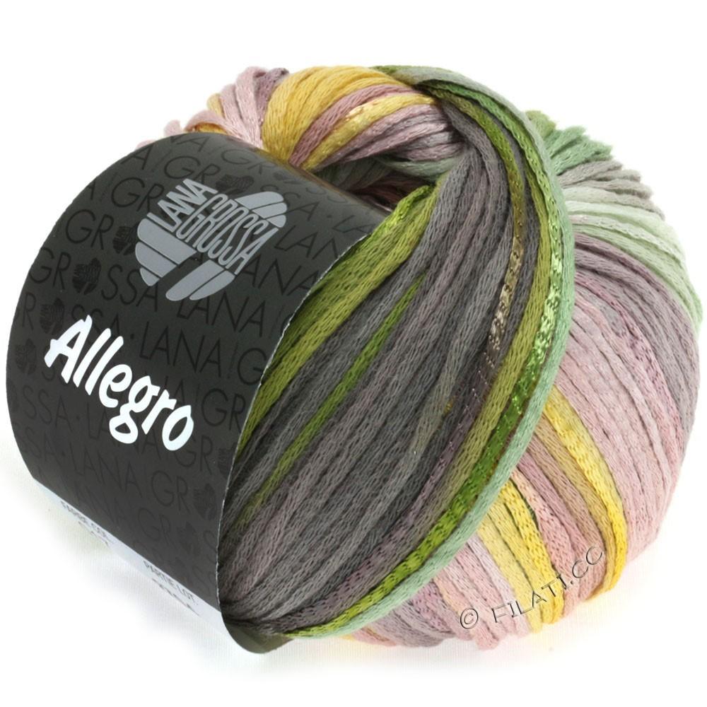 Lana Grossa ALLEGRO | 017-жёлтый/зелёный/кофе мокко/розовое дерево