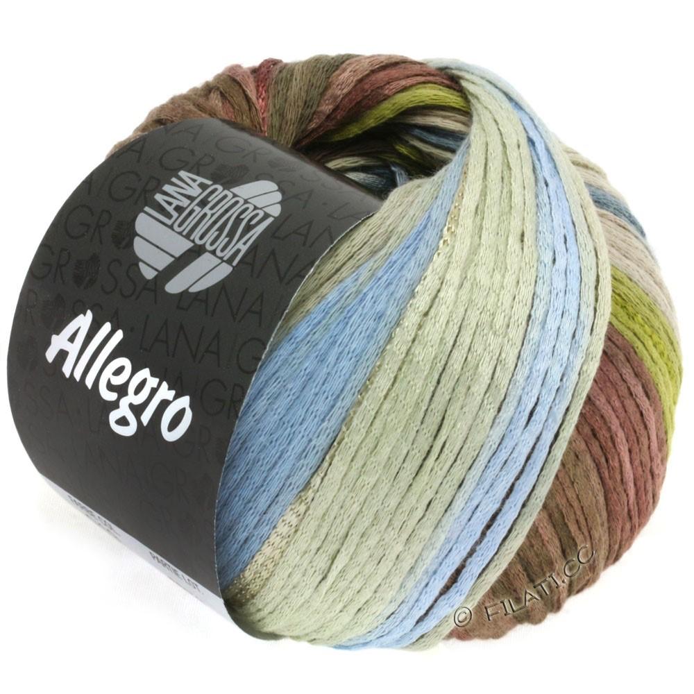Lana Grossa ALLEGRO | 019-оливково-зелёный /синий дым/нуга/серо-бежевый