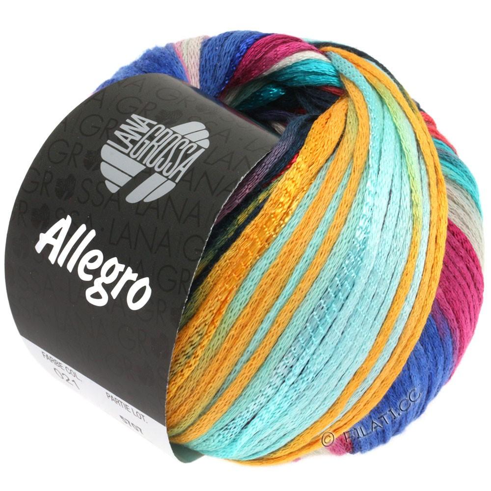 Lana Grossa ALLEGRO | 021-светло-бирюзовый/синий/петроль/мандариновый/красный обожженной глины
