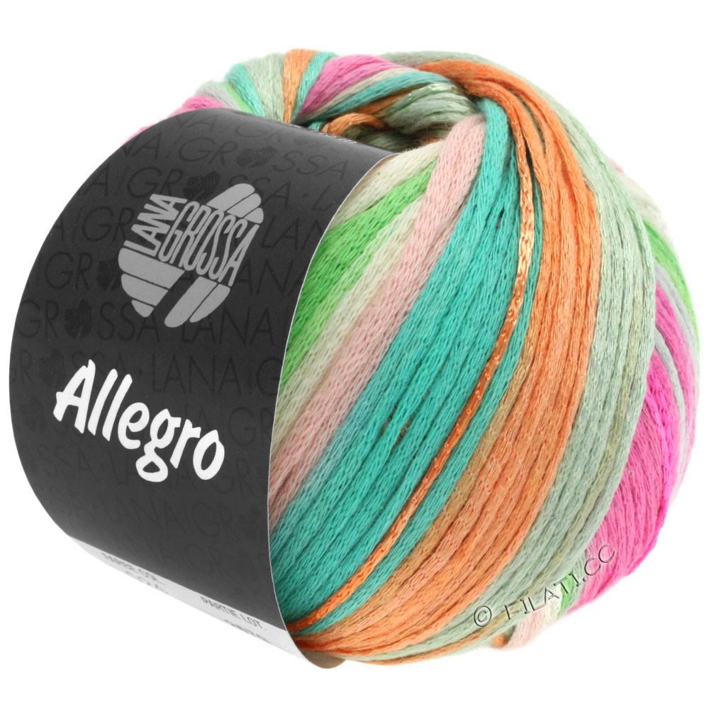 Lana Grossa ALLEGRO | 024-мягко-розовый/бежевый/зеленый пастель/бирюзовый/персик