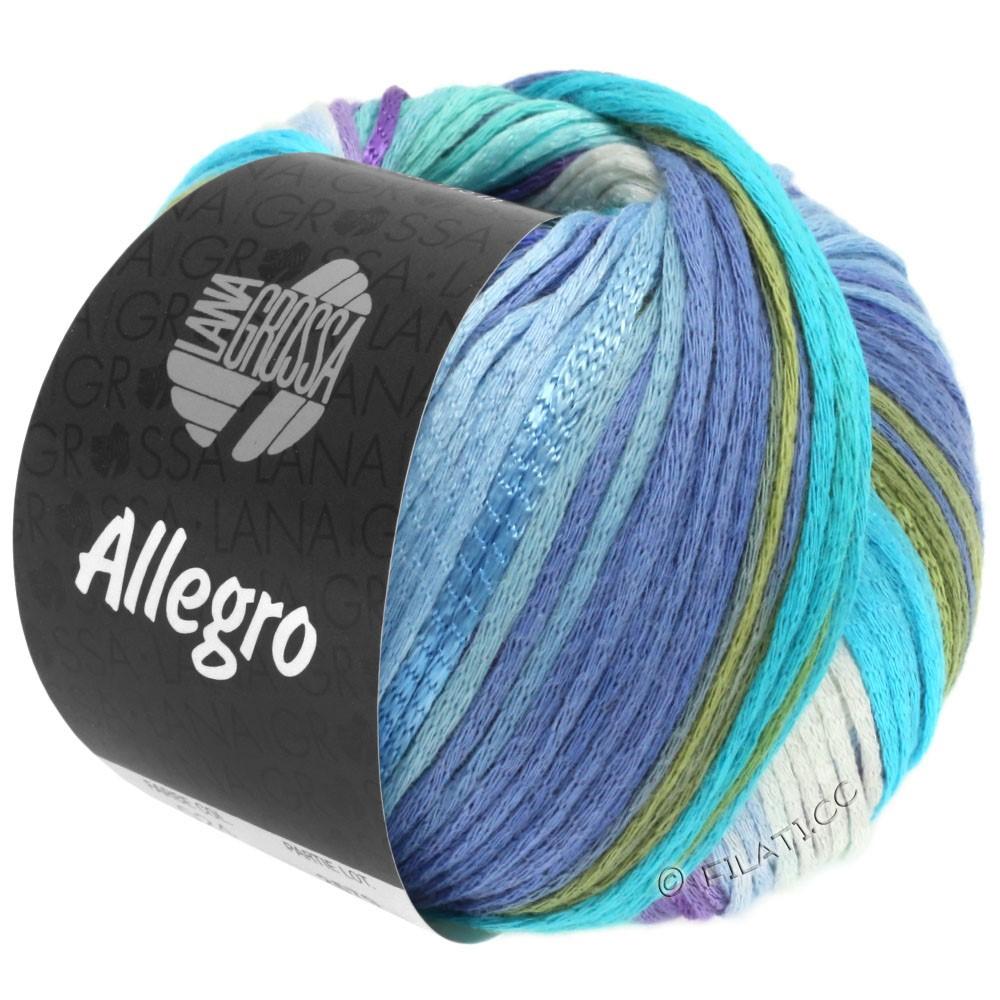 Lana Grossa ALLEGRO | 028-белый/светло-голубой/голубой/светло-бирюзовый/мягко-зеленый