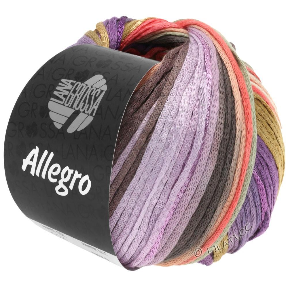 Lana Grossa ALLEGRO | 030-фиолетовый/лососевый/бежевый/натуральный/сирень/серо-коричневый/светло-серый
