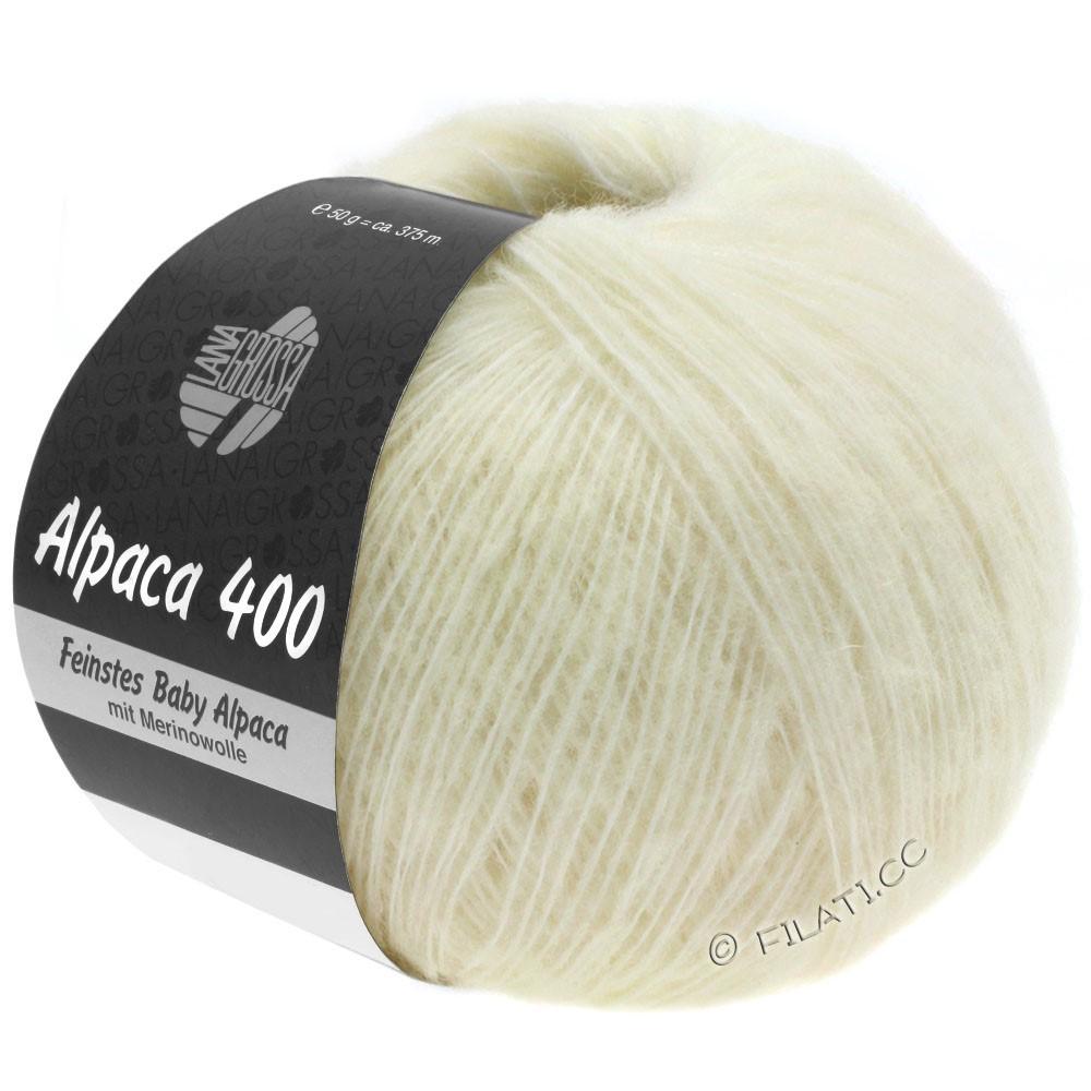 Lana Grossa ALPACA 400 | 01-чисто-белый