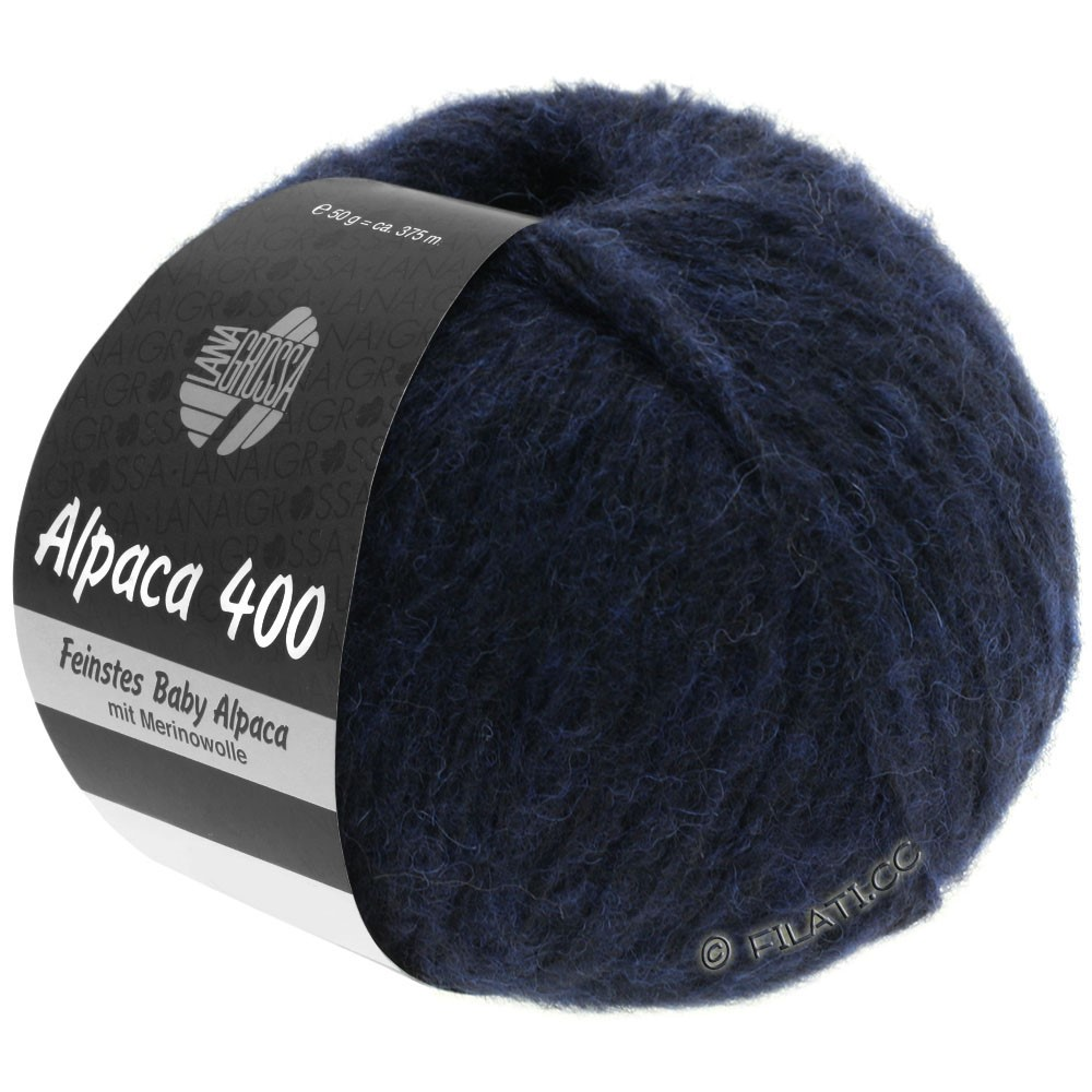 Lana Grossa ALPACA 400 | 10-тёмно-синий