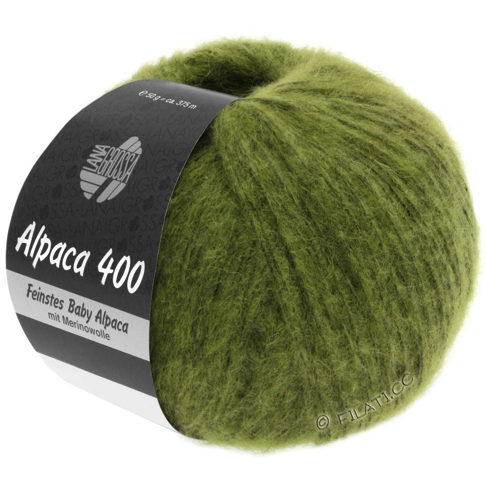 Lana Grossa ALPACA 400 | 11-оливково-зелёный