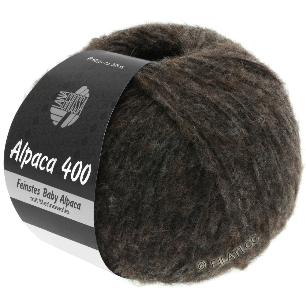 Lana Grossa ALPACA 400 | 13-чёрно-коричневый