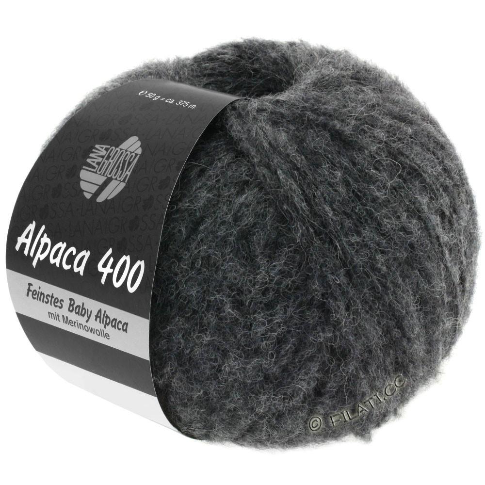 Lana Grossa ALPACA 400 | 15-антрацитовый