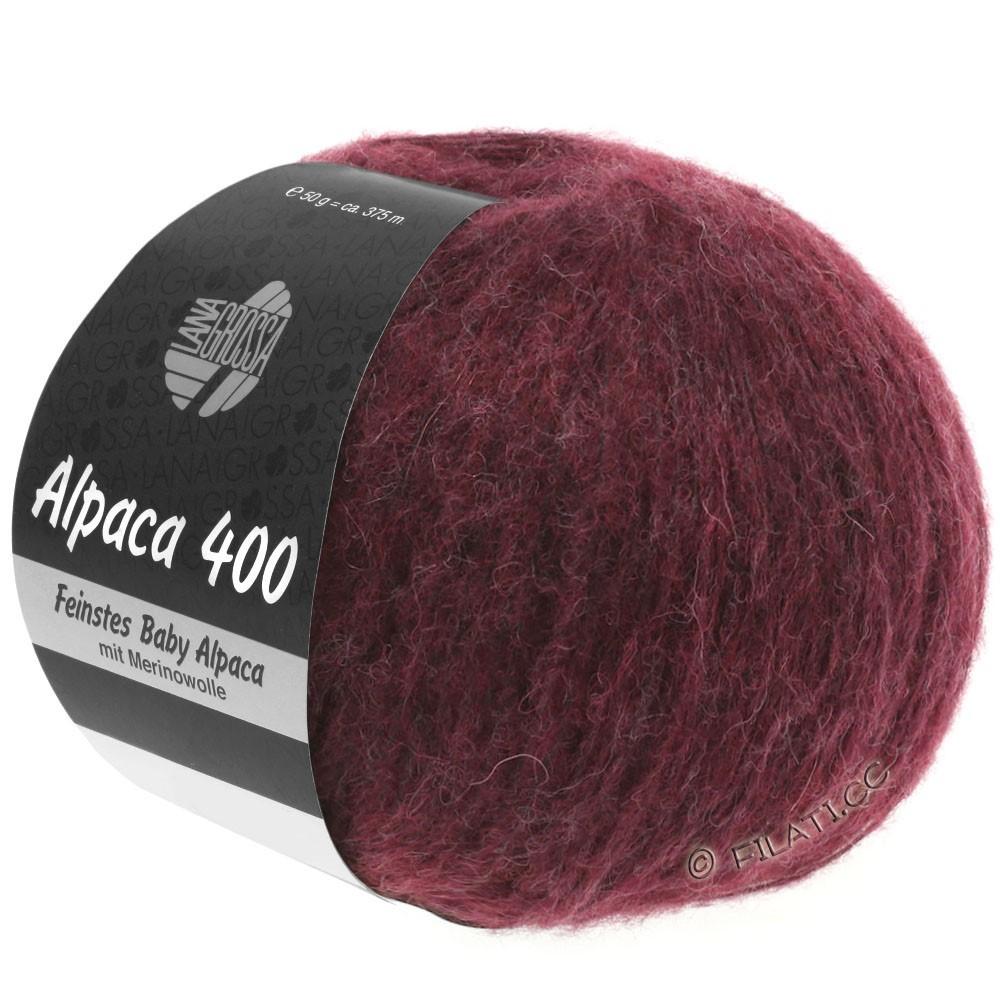 Lana Grossa ALPACA 400 | 16-чёрно-красный