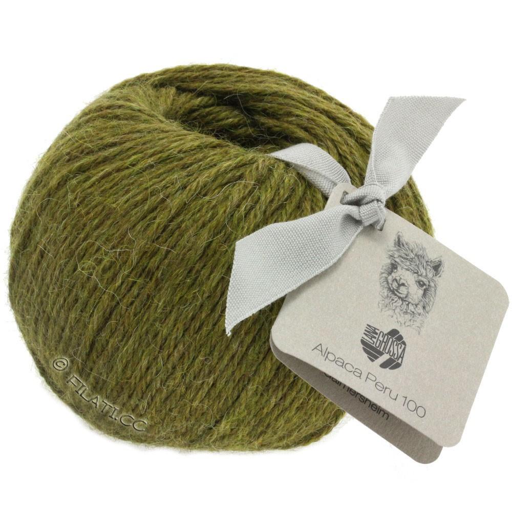 Lana Grossa ALPACA PERU 100 | 113-оливковый