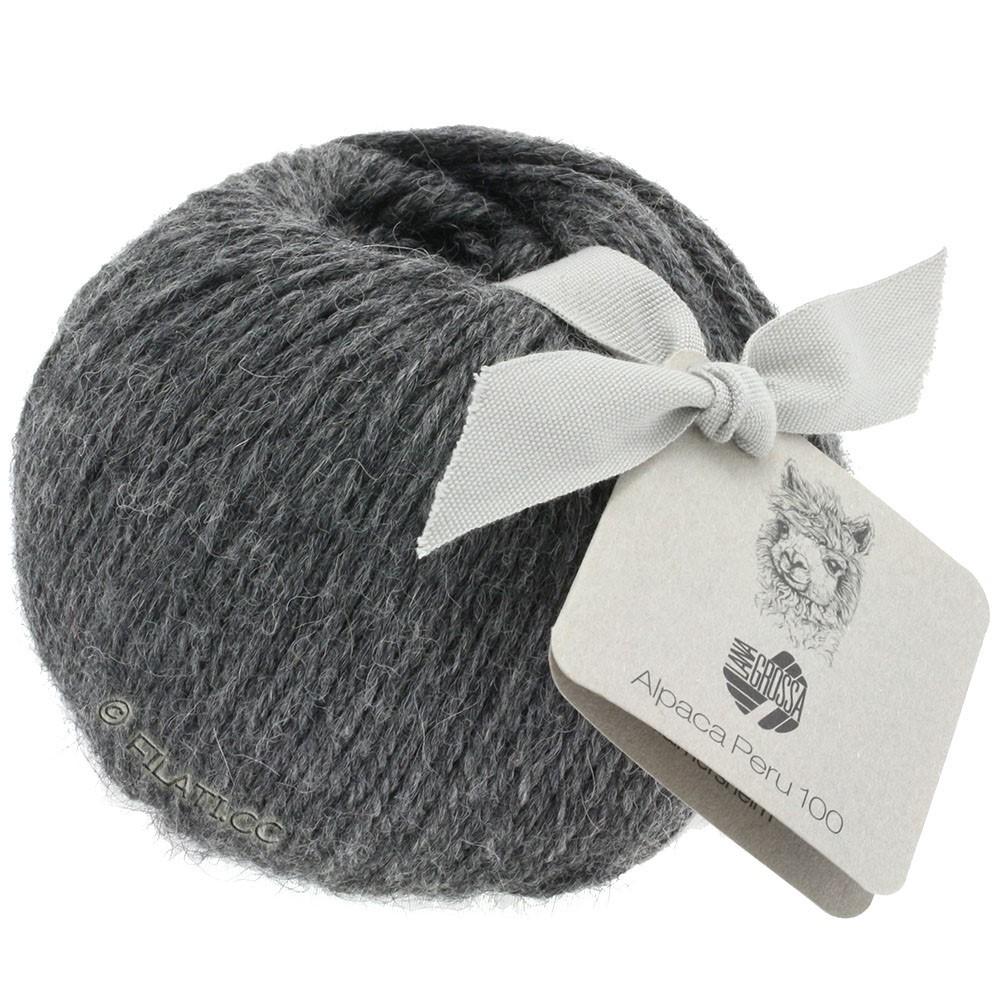 Lana Grossa ALPACA PERU 100 | 117-тёмно-серый