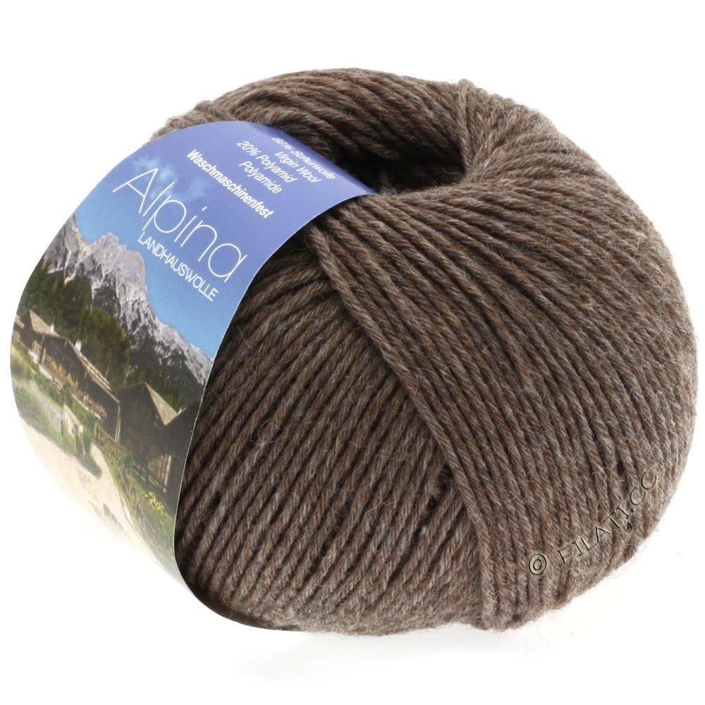 Lana Grossa ALPINA Landhauswolle | 02-серо-коричневый