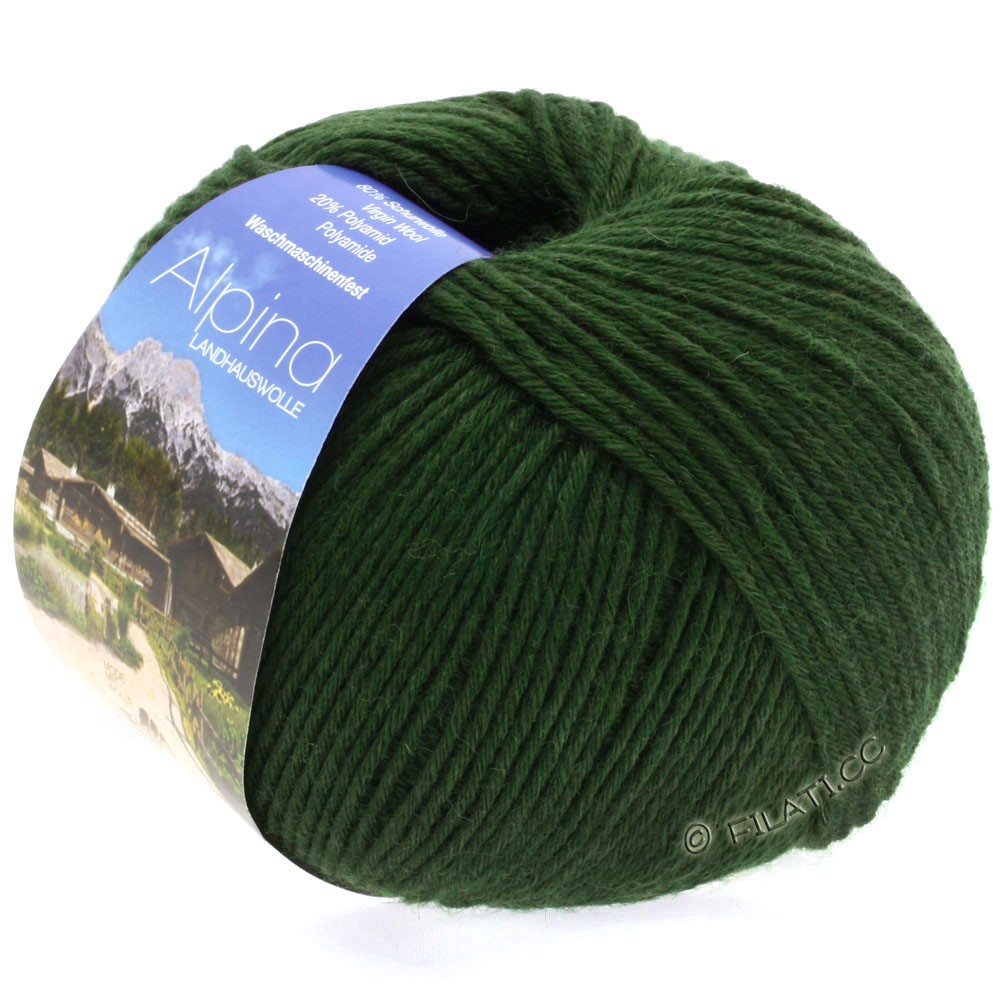 Lana Grossa ALPINA Landhauswolle | 07-темно-зеленый