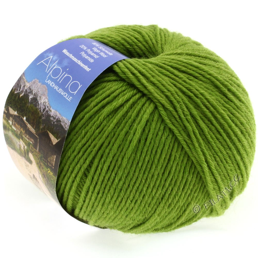 Lana Grossa ALPINA Landhauswolle | 17-светло-зелёный