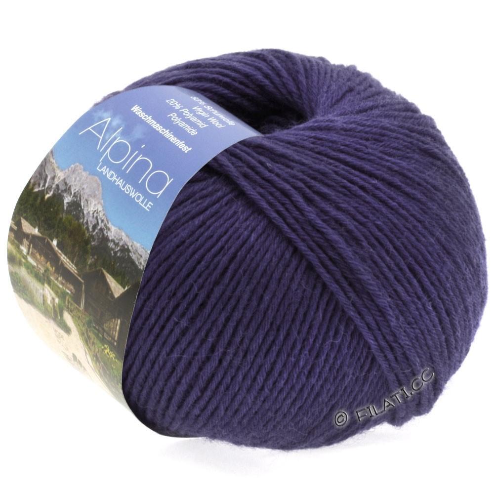 Lana Grossa ALPINA Landhauswolle | 30-тёмно-фиолетовый
