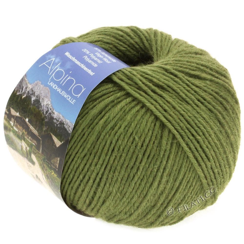 Lana Grossa ALPINA Landhauswolle | 35-зеленый