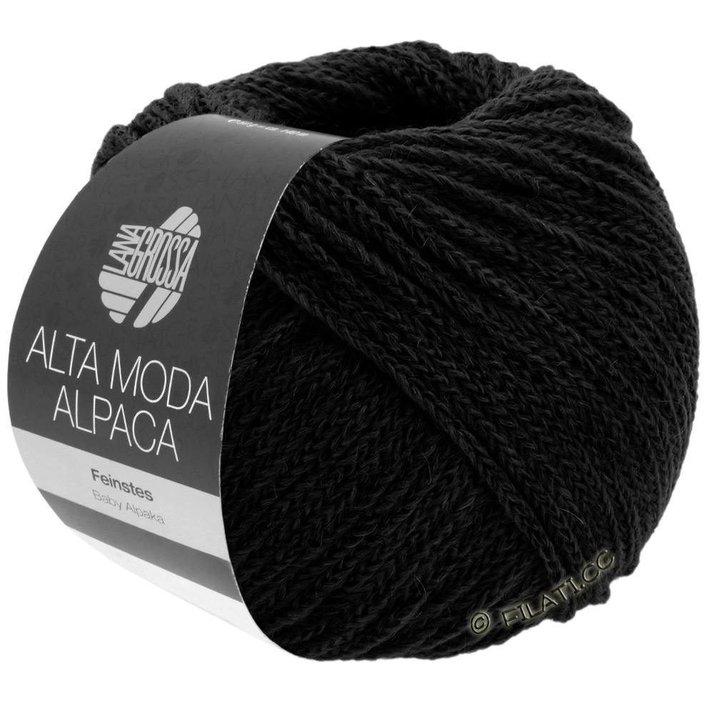 Lana Grossa ALTA MODA ALPACA | 06-чёрный